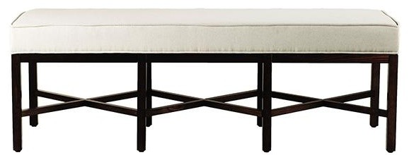 Martha Stewart Living Lombard Long Bench Traditional Upholstered Benches