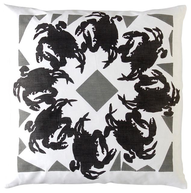 Dermond Peterson Folkloric Crab Pillow contemporary-decorative-pillows
