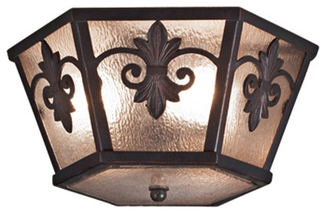 "Traditional Lonsdale 15 1/2"" Wide Antique Sable Ceiling Light traditional-ceiling-lighting"
