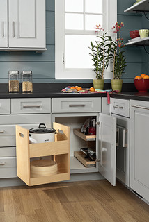 Blind Corner Storage - Kitchen Drawer Organizers - minneapolis - by Mid Continent Cabinetry