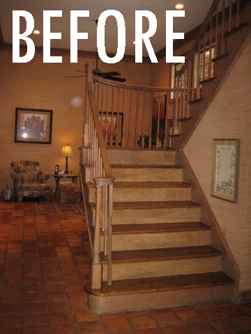 Before After Staircase Remodel Contemporary Dallas