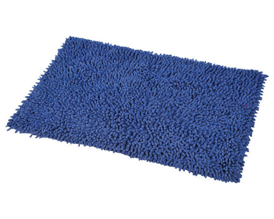 Shaggy Loop Bath Rug Blue Jeans - This shaggy loop bath rug is 100% cotton. Thick fabric and ultra-soft touch, it will add a luxurious and contemporary style to your bathroom. Lush, deep, and inviting, you can luxuriously sink your toes into it! Machine wash cold and no dryer. Manufacturer recommends using a nonskid pad beneath the rug (not included). Indoor use only. Width 17-Inch and length 29.5-Inch. Color blue jeans. This shaggy rug delivers a sparkly, lustrous look that instantly updates your bathroom decor. Imported.