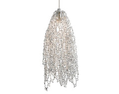 Lit Mademoiselle Pendant No. 2 in Clear Crystal traditional-pendant-lighting