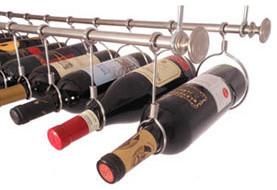 Stainless Steel Under Cabinet Wine Rack - 24 Inches wine-racks