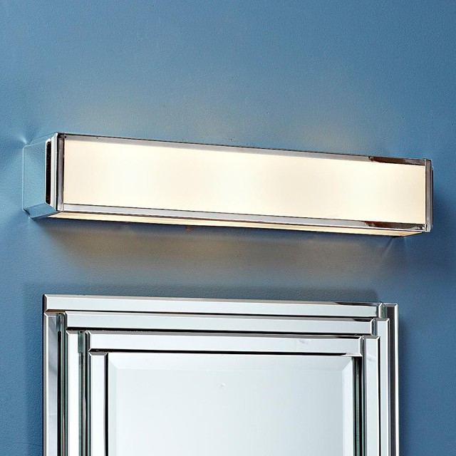Vanity Light Bulb Shades : Metropolitan Bar Bath Light - 3 light/2 finishes - Lamp Shades - by Shades of Light
