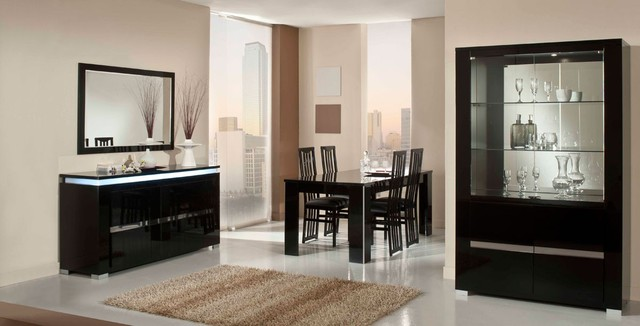 elite modern italian black lacquer dining table modern