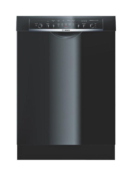 "Bosch 24"" Ascenta Series Dlx Recessed Handle Dishwasher, Black | SHE3ARL6UC - 5 WASH CYCLES W/ 2 OPTIONS"