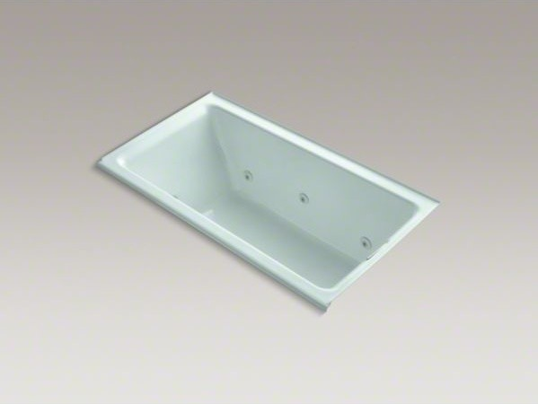 "KOHLER Tea-for-Two(R) 66"" x 36"" alcove whirlpool bath with right-hand drain and contemporary-fire-pits"