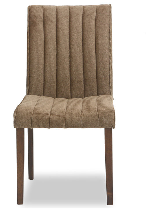 Bryght - Strip Umber Fabric Upholstered Dining Chair - The strip dining chair, with its sophisticated and contemporary style, offers long lasting comfort. This dining chair's unique display of individual parallel grooves sewn into its upholstery lends it a chic and luxurious feel