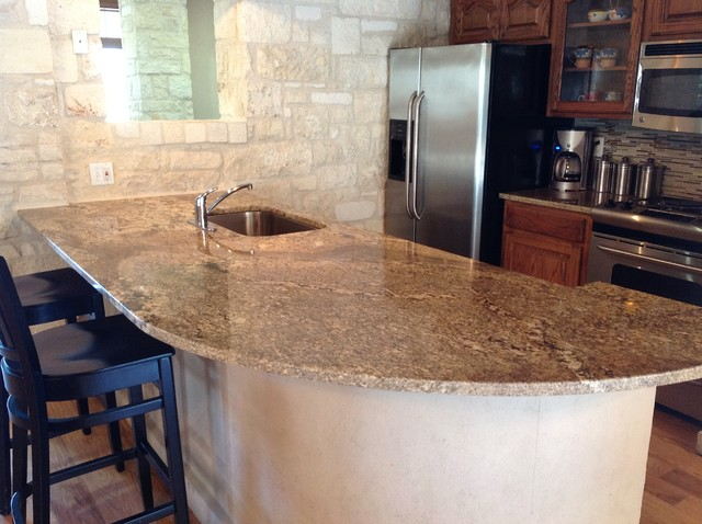 Rustic Stone Countertops : Kitchen countertop projects rustic austin by fox granite
