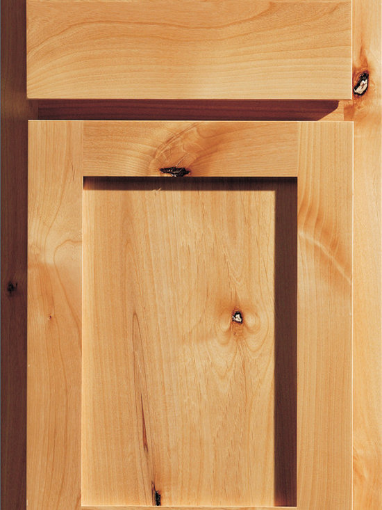 """Dura Supreme Cabinetry - Dura Supreme Cabinetry Santa Fe Panel Overlay Cabinet Door Style - Dura Supreme Cabinetry """"Santa Fe Panel"""" overlay cabinet door style in Knotty Alder shown with Dura Supreme's """"Natural"""" finish."""
