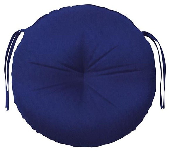 "Tufted Round All Weather Outdoor Patio Chair Cushion 3""Hx18""Wx18&"
