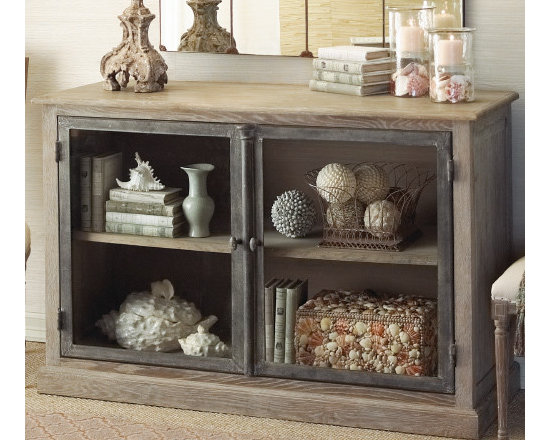 Marseille Glass Front Cabinet -