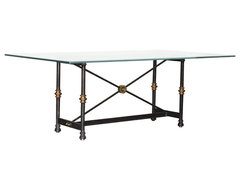 Chelsea Dining Table Base mediterranean-table-tops-and-bases