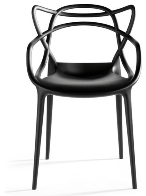 Masters Chairs, Black, Set of 2 modern-armchairs-and-accent-chairs