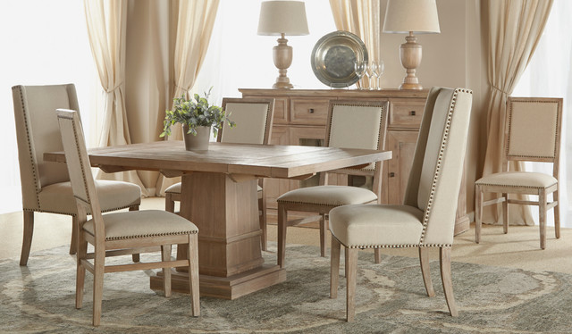 Hudson Square Extension Dining Room Table Rustic Orange County