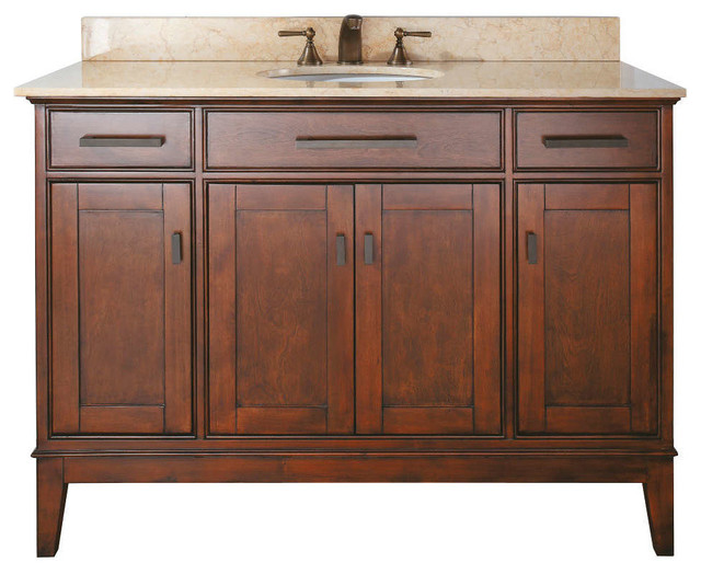 "MADISON 48"" Vanity Only (Tobacco) contemporary-bathroom-vanities-and-sink-consoles"