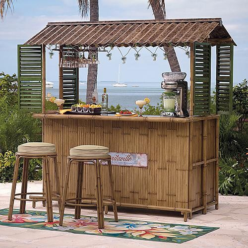 Tiki Bar (Bar stools sold separately), Patio Furniture traditionalbar