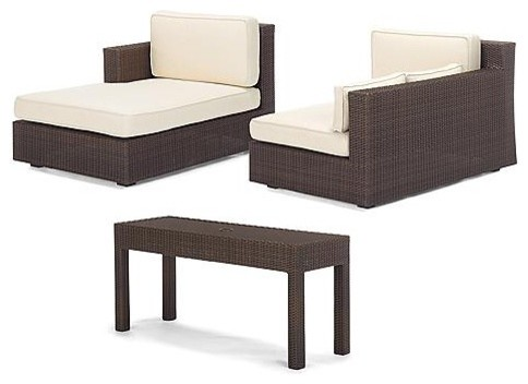 Monaco Modular Lounger Set - Frontgate contemporary-patio-furniture-and-outdoor-furniture