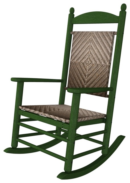 Porch Rocker Green All Weather  Recycled Plastic Furniture beach-style-outdoor-chairs