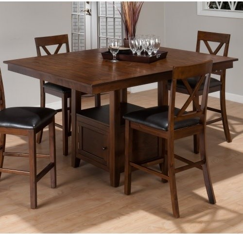 Jofran Olsen Oak Counter Height Dining Table with Storage  : modern dining tables from houzz.com size 500 x 482 jpeg 52kB