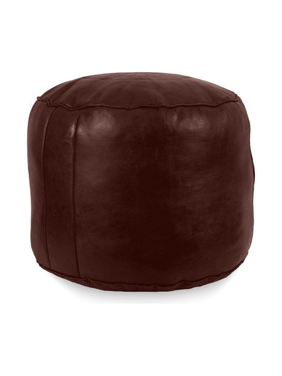 Ikram Design - Tabouret Fez Poufs, Chocolate, Tabouret - Tabouret Fez Poufs add style and fun to your house decor. They are also extremely comfortable.  The measurements are approximately 18 inches in diameter and 15 inches in height, They come pre-stuffed with filling fiber.