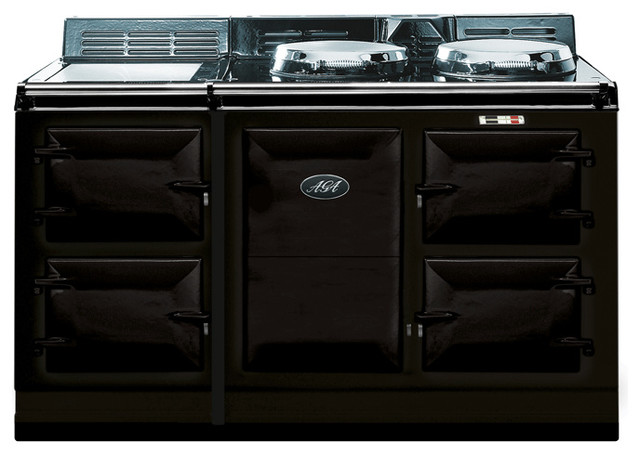 AGA Traditional Electric 4 Oven Cooker, Black | A4O-E-MOD-BLK gas-ranges-and-electric-ranges