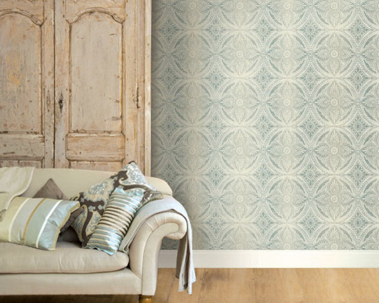 Vintage Wallpaper - A chic vintage inspired wallpaper with an ombre fade effect available from Brewster Home Fashions
