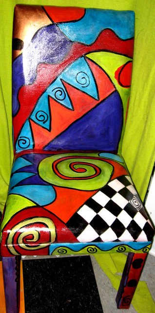 Hand painted parsons chair