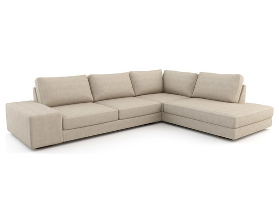 Strata Wedge Open Sectional - Customize this piece as part of a larger sectional. The other pieces are on the collection page that you can add after finishing this one. Or, you can use this piece on its own if desired.With a low, deep frame and a progressive design, the Strata sectional sofa makes a statement wherever it resides. A sectional sofa as functional as it is beautiful.Viesso designs and manufactures this piece of modern furniture. All of the sectional sofas from the Viesso line are built one at a time in Los Angeles in 3 weeks. With all the custom options available, they are truly built for you and your space. A custom sofa that's also an eco sofa. Yes, it's that good.