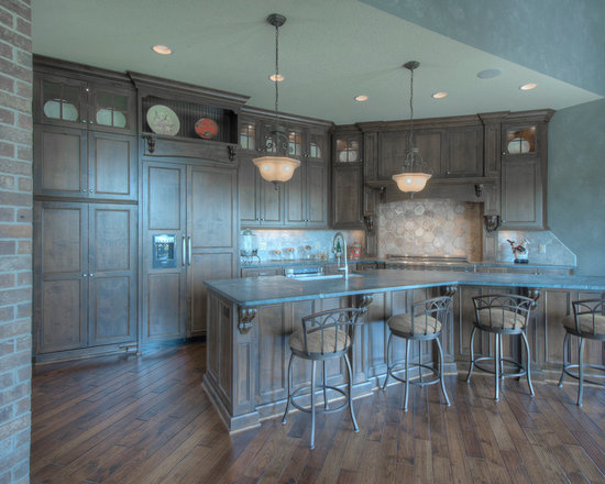 Custom Cabinets - Maple Cabinetry with Dark Walnut Stain