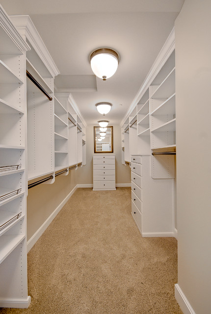 Master closet traditional closet seattle by for Walk in closet remodel
