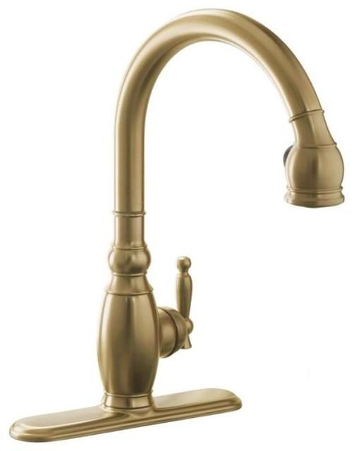 KOHLER K-690-BV Vinnata Single-Control Pull-Down Kitchen Sink Faucet contemporary-kitchen-faucets