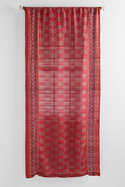 Magical Thinking Silk Sari Curtain Red Eclectic Curtains By Urban Outfitters