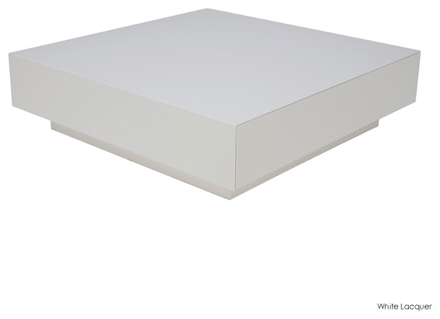 Dumas Coffee Table White Lacquer Modern Coffee Tables By Inmod