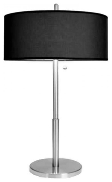 Luxury Tall Bedroom Table Lamps With Black Linen Shade