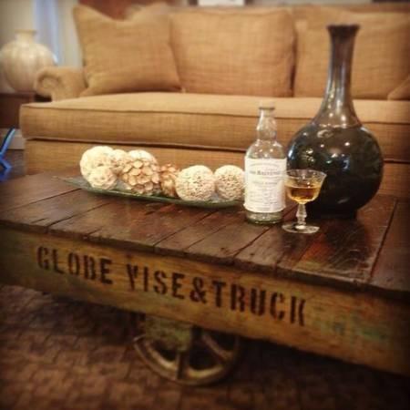 Globe Lumber Cart Coffee Table