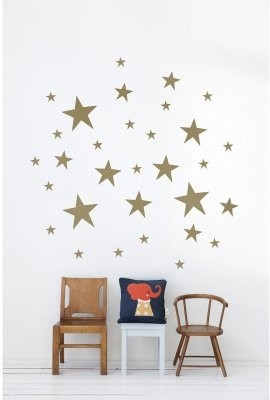 Stars Wall Decal - Gold modern-wall-decals