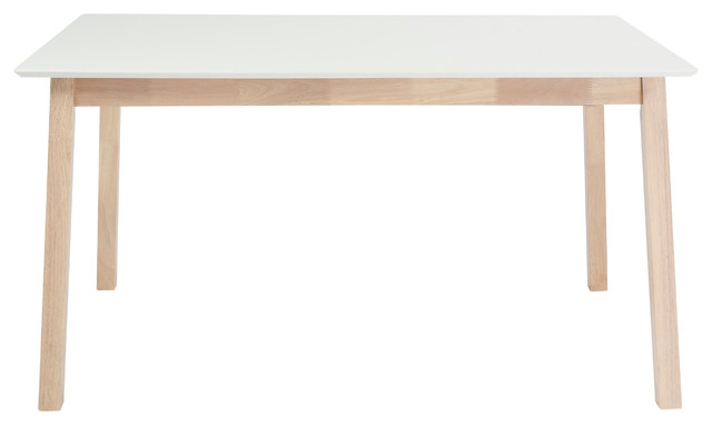 "Montana Ext. Dining Table 36"" X 71"" - White/Nat contemporary-dining-tables"