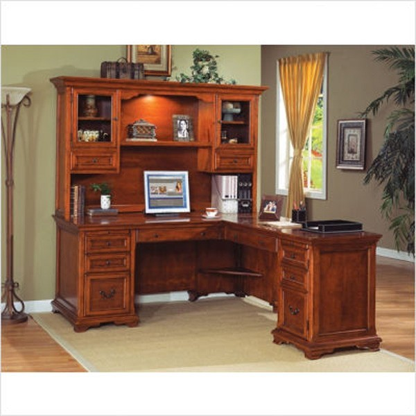Kathy ireland home by martin furniture charlotte 68 l shaped executive desk w traditional - Home office furniture salt lake city ...