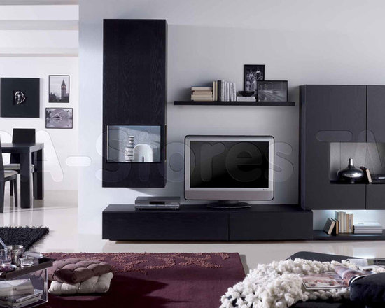 """Graphite Oak/Gold Fantasy Wall Unit Composition 20 - Simple forms of this model will allow you to create the optimal composition in line with your needs and the area of the room. The apparent advantage is also a wealth of colors. Be confident in the long-term durability and use of furniture """"Muebles Benicarlo""""."""