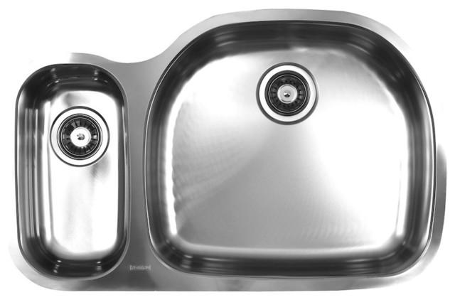 Ukinox D537.70.30.10L Double Kitchen sink traditional-kitchen-sinks