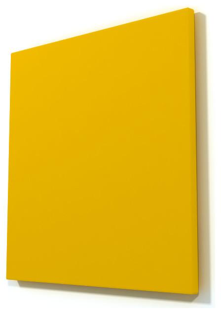 Yellow Caramel Wood Wall Art contemporary-artwork