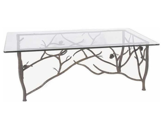 Iron Pine Cone Cocktail Table -