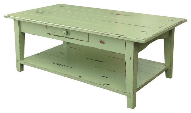 Shaker Coffee Table, Chestnut-Stain, 24 X 60 X 18 traditional-coffee-tables