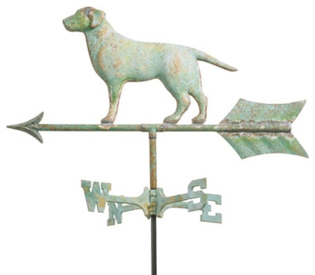 Labrador Retriever Weathervane eclectic outdoor decor