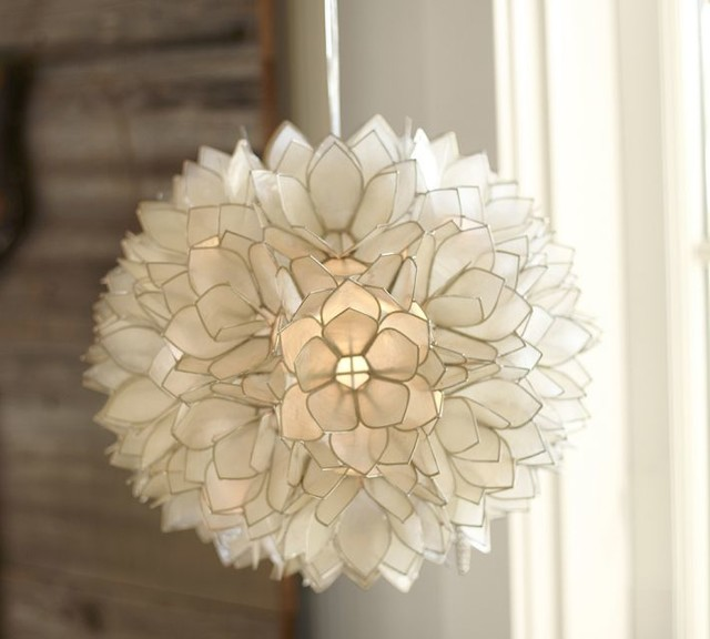 Capiz Pendant | Pottery Barn contemporary pendant lighting