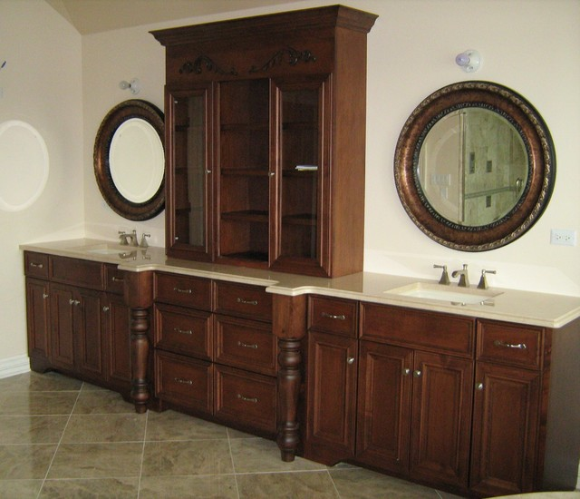Custom cabinetry projects traditional-bathroom