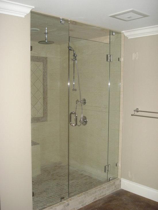 Frameless Shower Doors - Fully custom shower door.