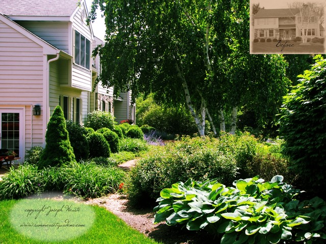 Front Yard Plantings & Brick Walkway